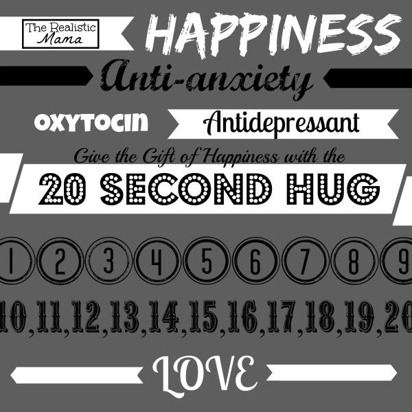The 20 Second Hug = Happiness