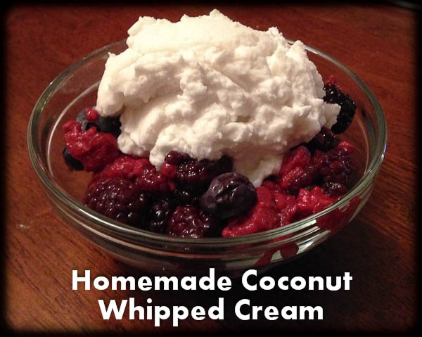 Easy Dairy Free Dessert. Berries with Homemade Coconut Whipped Cream (Recipe)