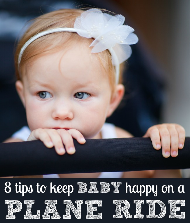 How to keep baby happy on a plane ride