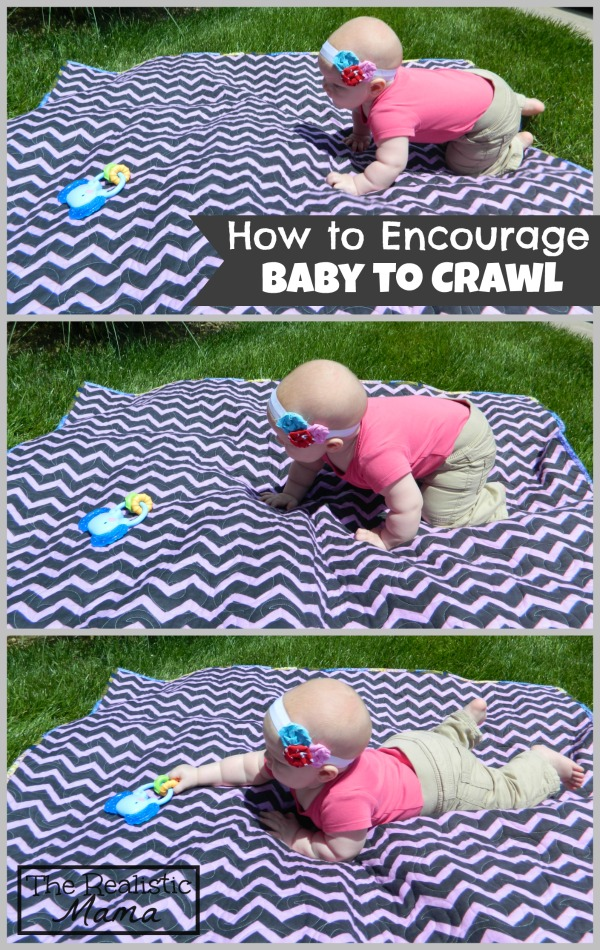 Encouraging Baby to Crawl. Love how simple this activity is.