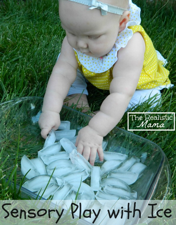 Sensory Play with Ice. Perfect for the hot weather.