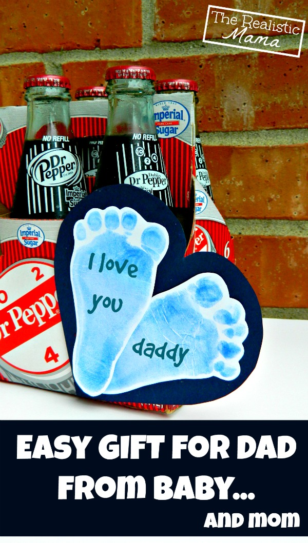 Easy Gift for Dad from Baby (and mom) - easy and cute!