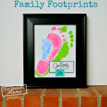 Family Fun Keepsake Footprint Frame
