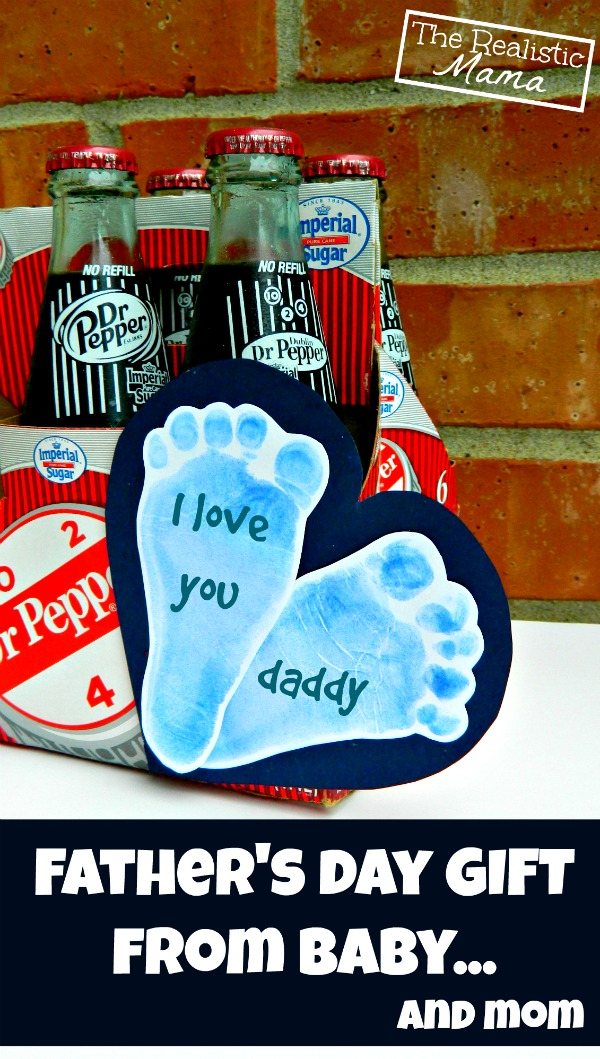 Baby Footprints   Easy Gift for Dad