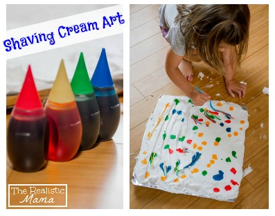 Kids Shaving Cream Art!!