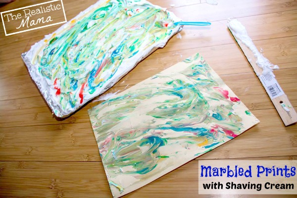 Marbled Prints - EPIC Shaving Cream Art