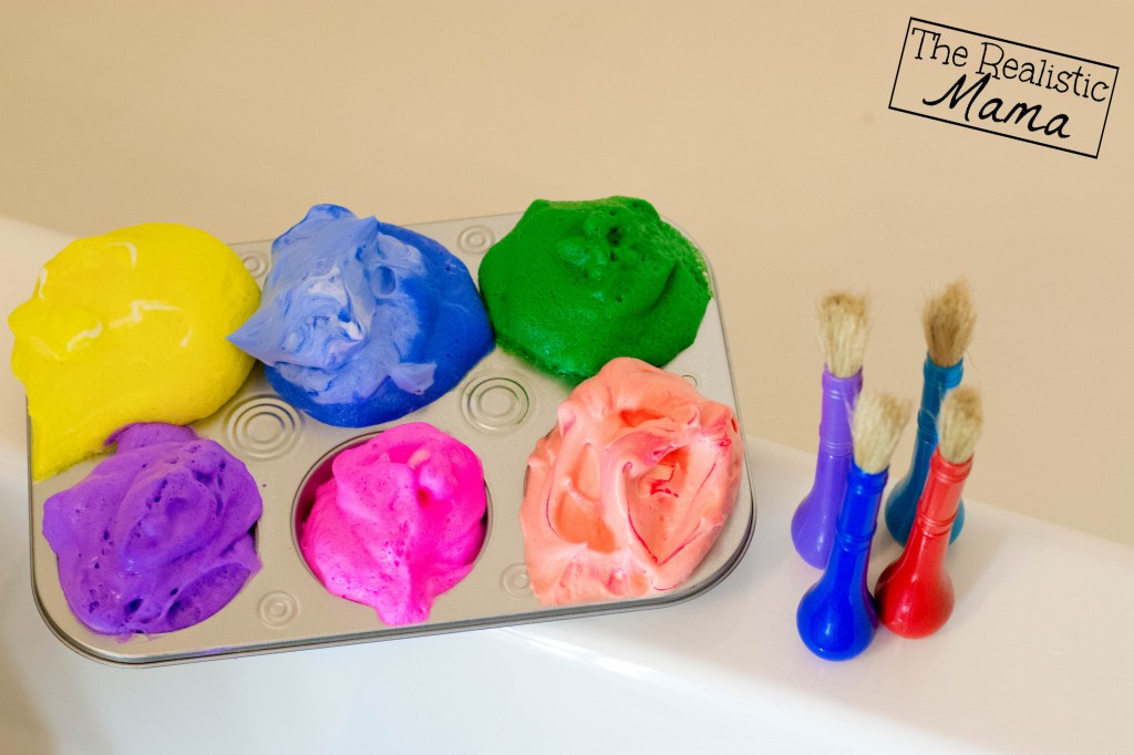 Muffin tin with bathtub paint