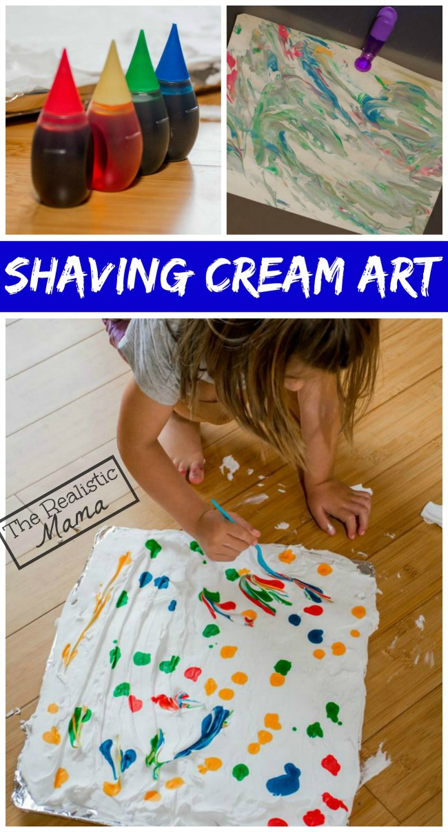 Epic Shaving Cream Art Project - love this!