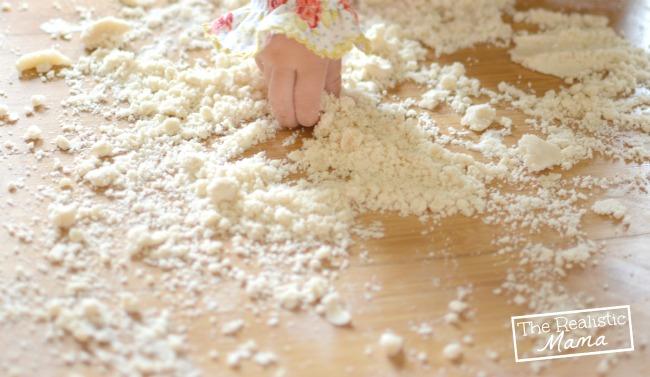 2 Ingredient Cloud Dough - Cheap Toddler Fun