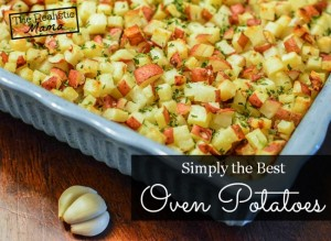 Cubed oven potatoes - so easy to make!