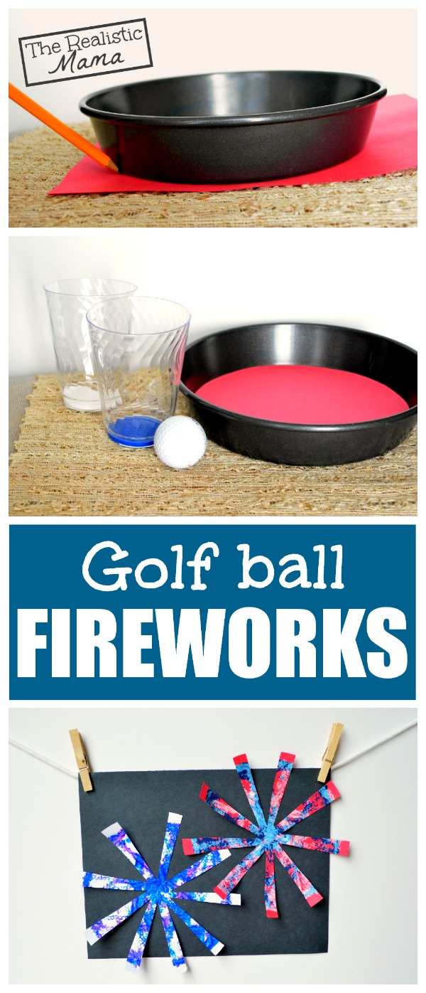 Golf Ball Firework Craft...how cool!