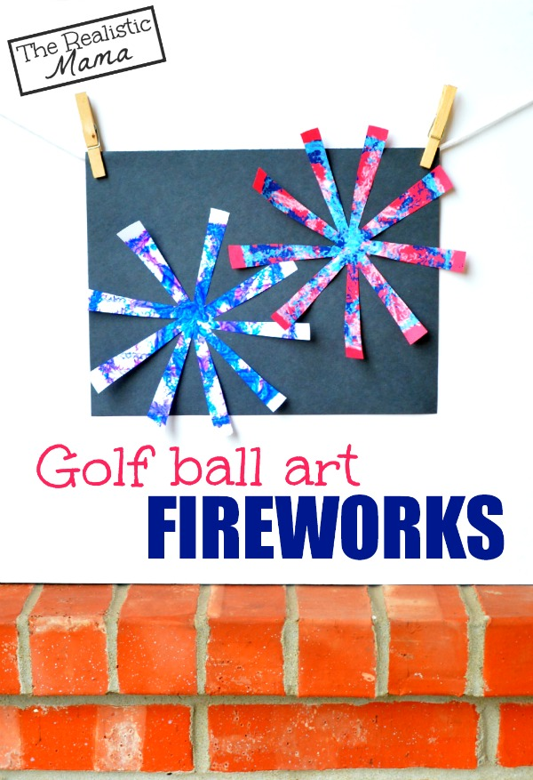 Golf ball art FIREWORKS... awesome!