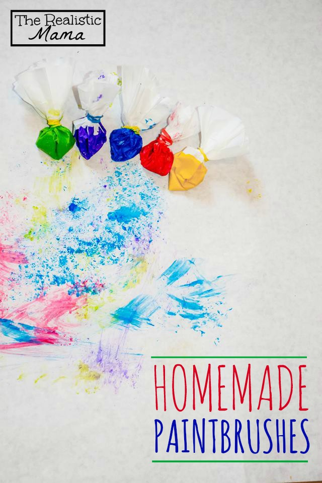 Homemade Paintbrushes - super unique and easy to make!