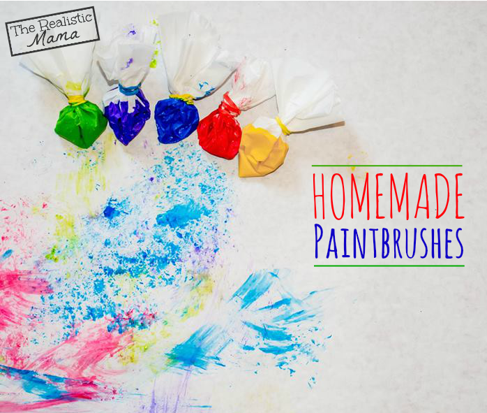 Homemade Paintbrushes - these look so fun!