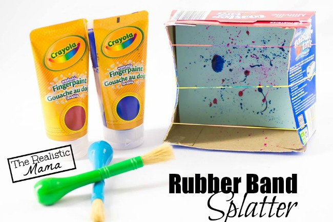 Rubber Band Splatter, Inspired by 101 Kids Activities