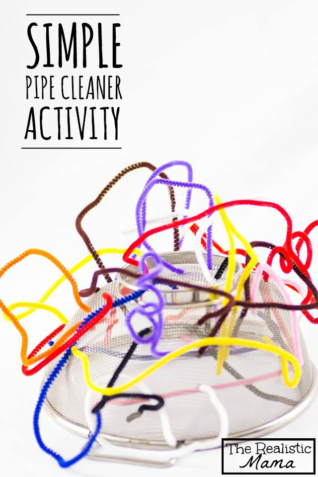 Simple Pipe Cleaner Activity - what a great idea!