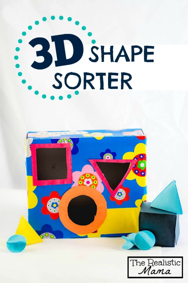 Homemade 3D Shape Sorter with FREE PRINTABLE - what a fun idea!