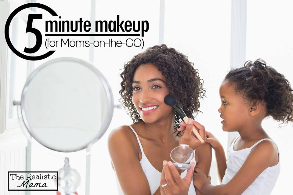 Makeup tips for moms on the go
