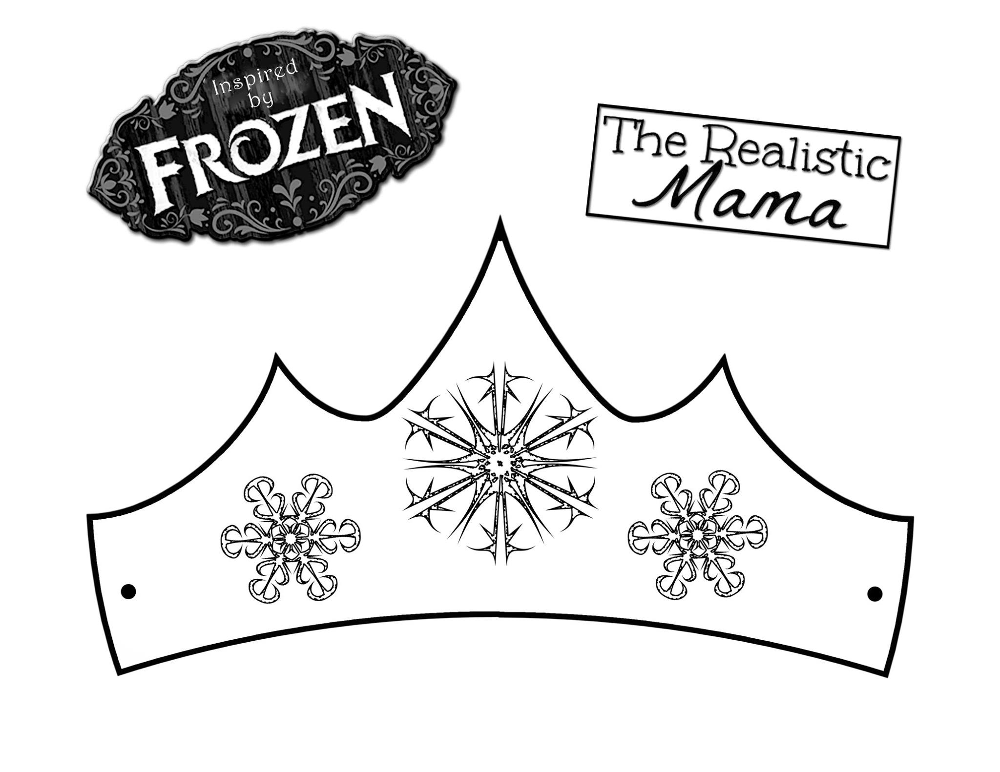 decorate queen elsa s crown get our free printable here to