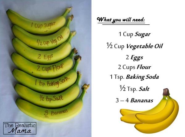 Banan Bread Muffin Ingredients