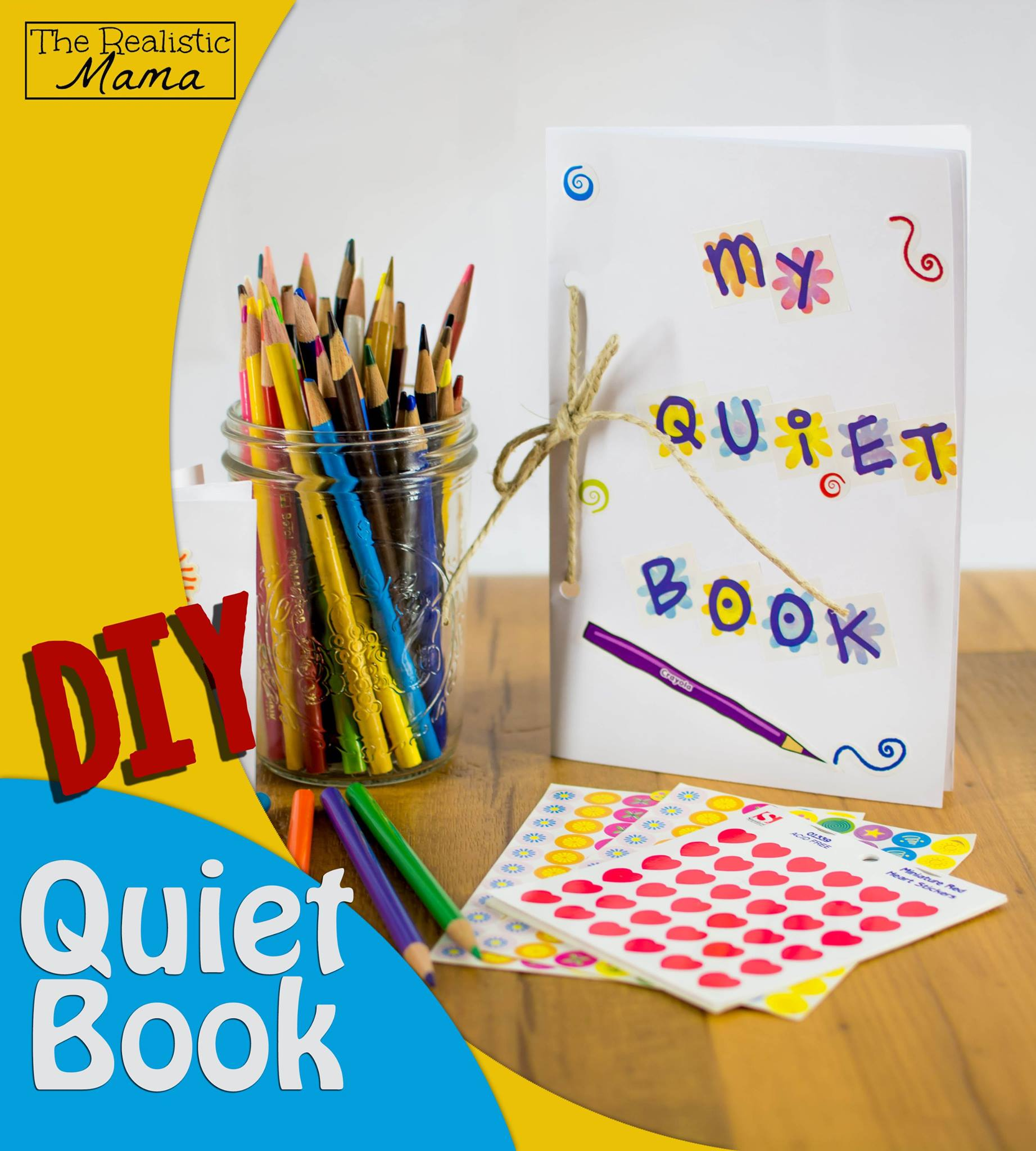 DIY Quiet Book for Kids - with 5 easy activities inside. #2 is BRILLIANT!