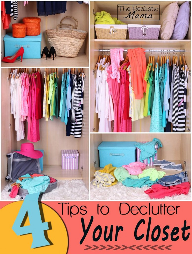 4 Tips to Declutter Your Closet - I LOVE their bonus tip!