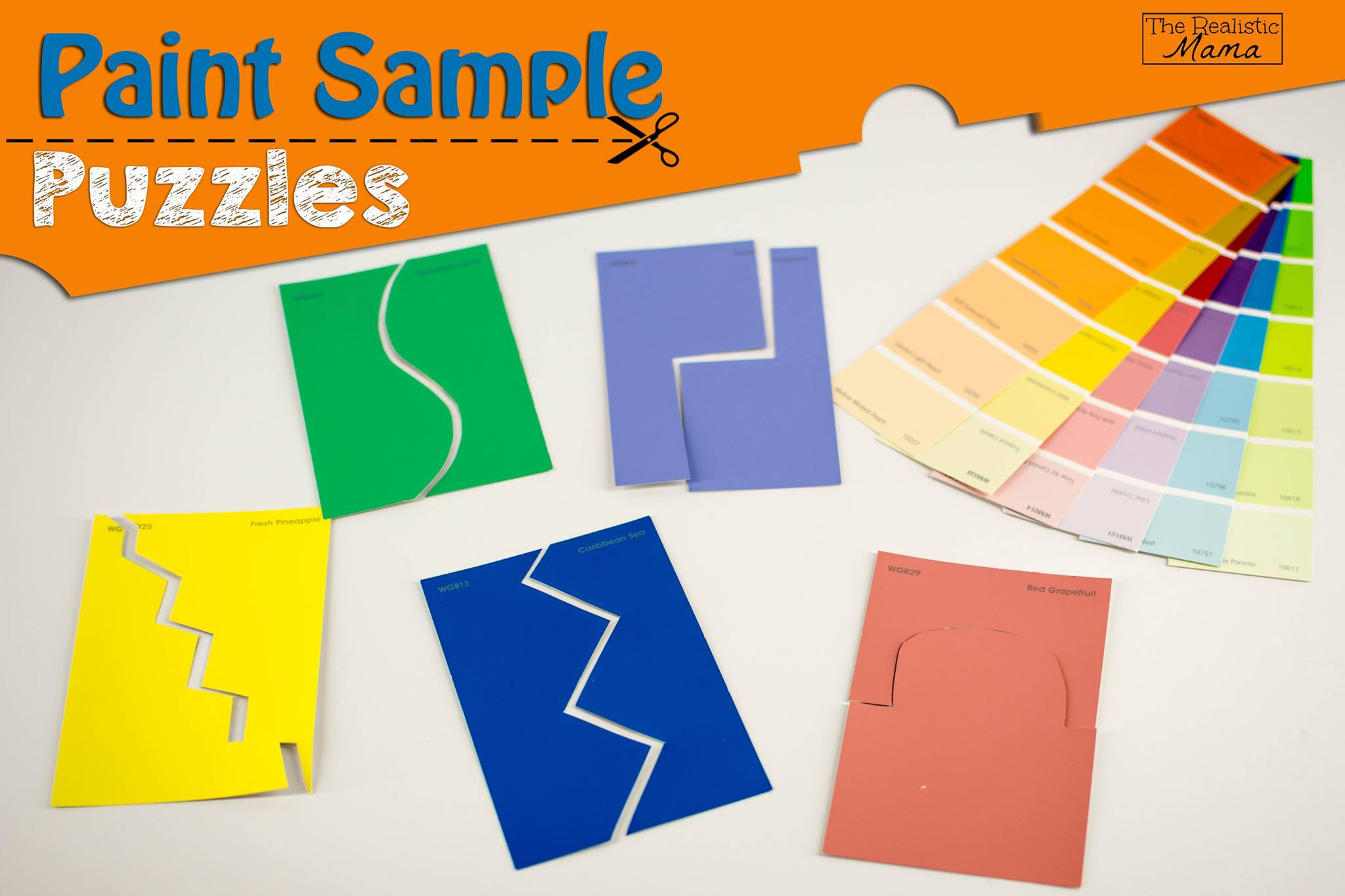 Paint Sample diy free puzzle games with paint samples - the realistic mama