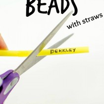 Make Your Own Beads with Straws