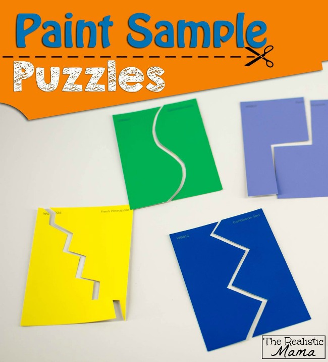 Paint Sample Puzzles - with instructions for all ages