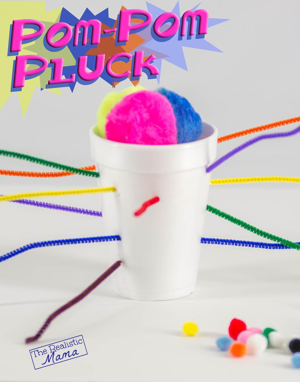 987af7ccfbd Pom-pom Pluck Game - The Realistic Mama
