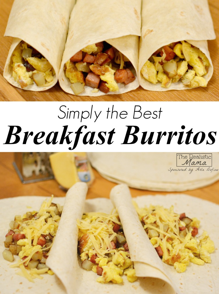 Breakfast Burrito Recipe The Realistic Mama
