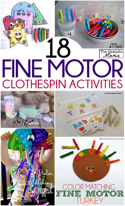 18 Fine Motor Activities with Clothespins