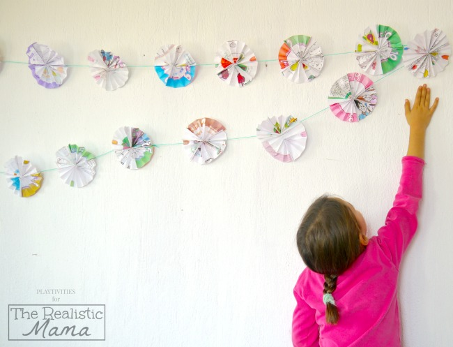 Recycled Paper Garland Craft