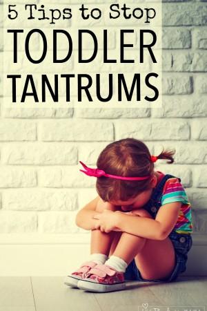 5 Tips to Stop Toddler Tantrums