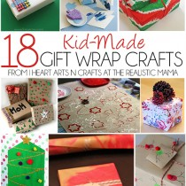 18 Kid-Made Gift Wrap Crafts