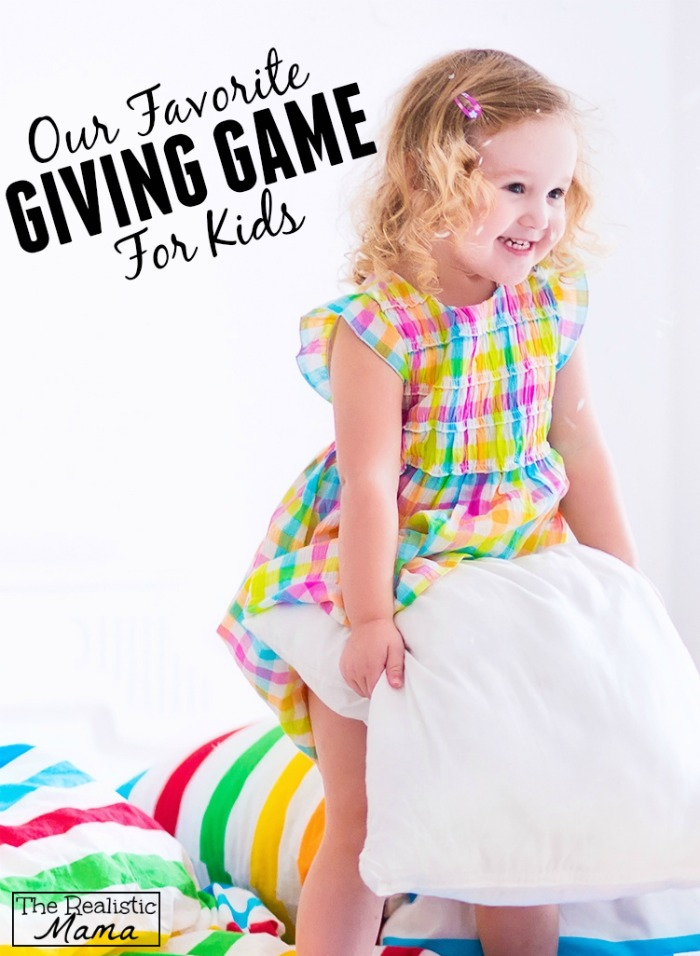 Love this giving game for teaching kindness