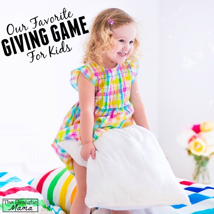 Our favorite giving game for kids