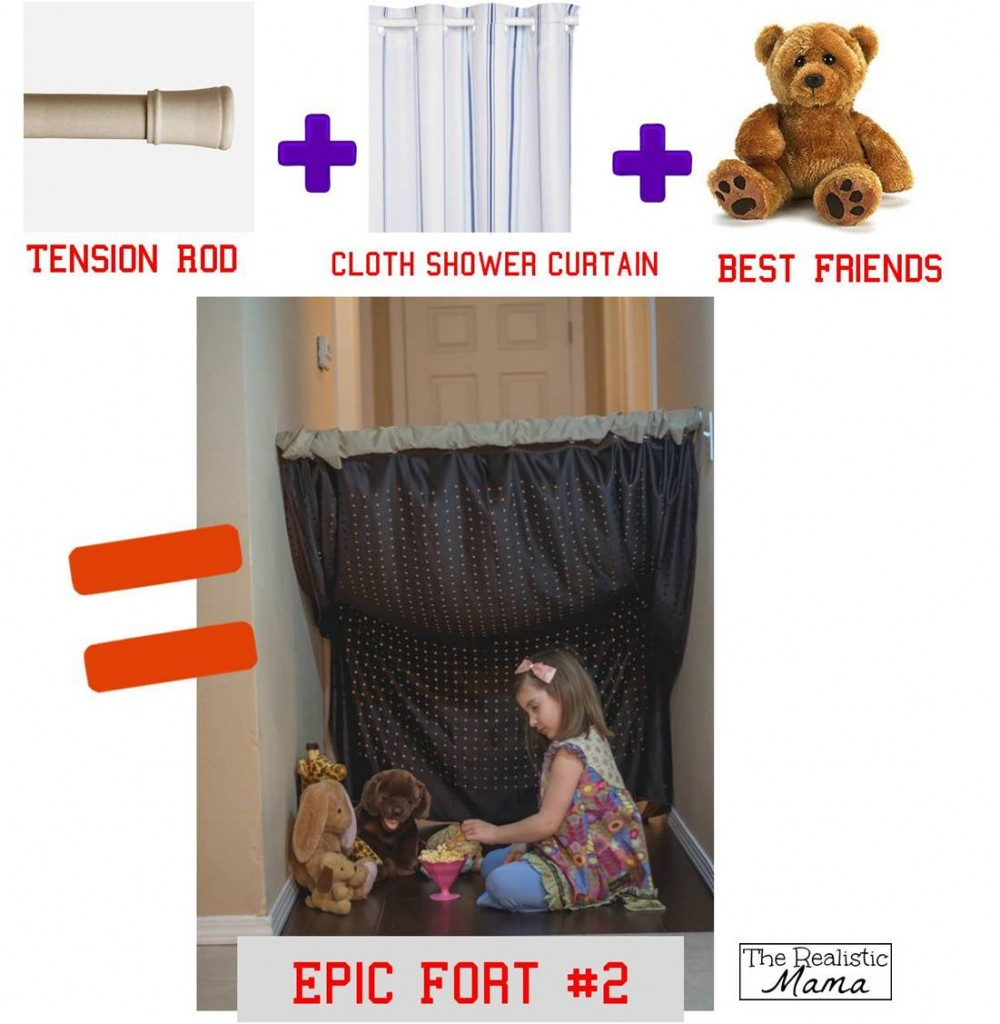 3 Diy Forts Using Household Items The Realistic Mama