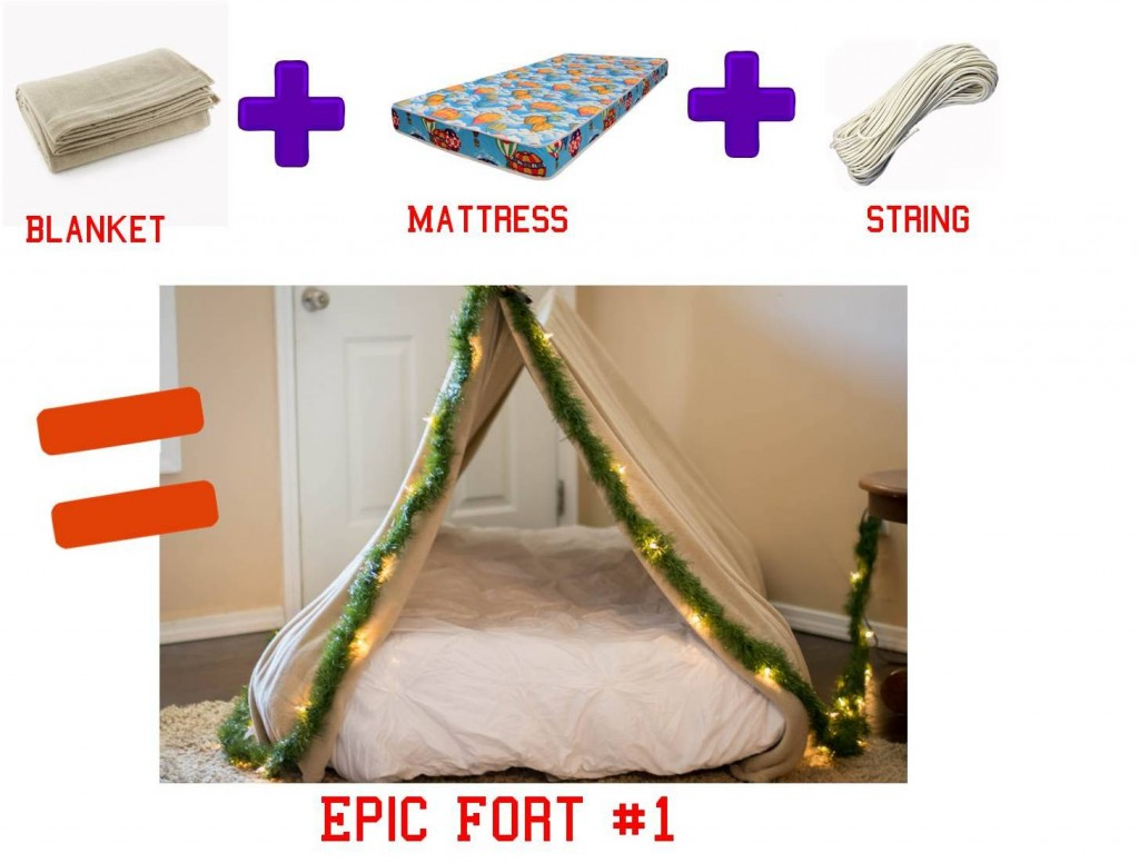 3 easy diy forts using household items the realistic mama for Fun things to build with household items