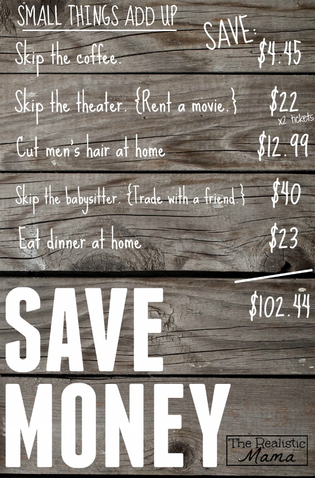 Tons of small ways to save money in this post