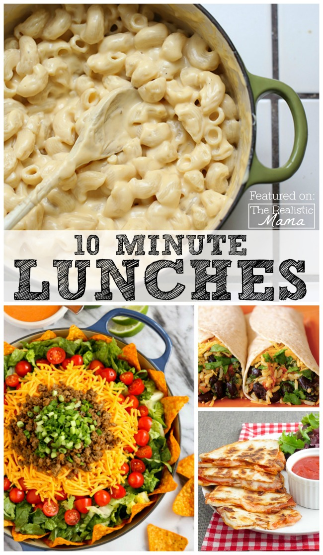 10 minute lunch ideas