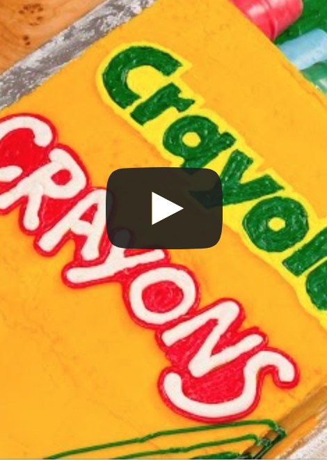 Awesome video! How to make a Crayola Crayons cake
