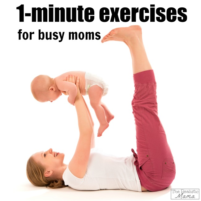 1-minute exercises for busy moms