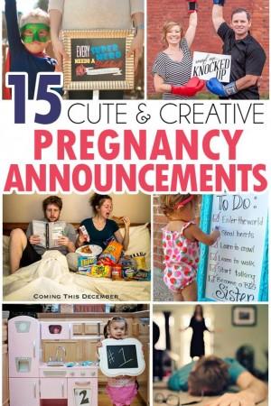 15 Fun Pregnancy Annoucements