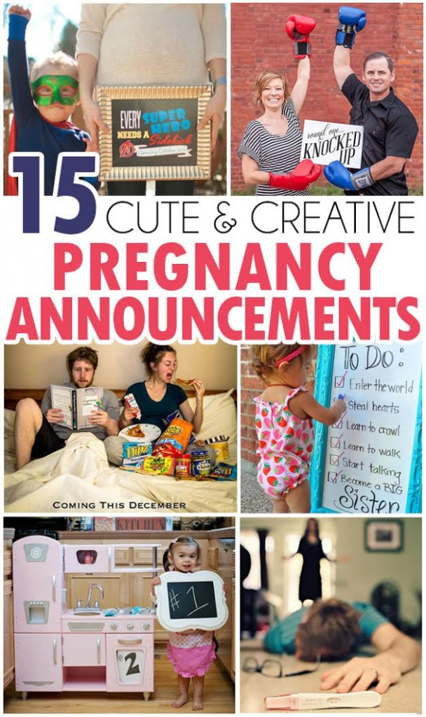 15 Fun Pregnancy Annoucements