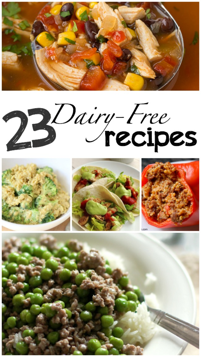23 Dairy-Free Recipes - most of these are gluten-free as well