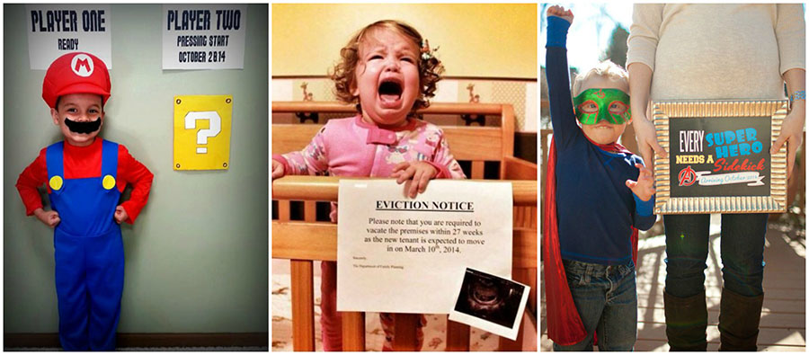 15 Cute and Creative Pregnancy Announcements The Realistic Mama – Sibling Announcing New Baby