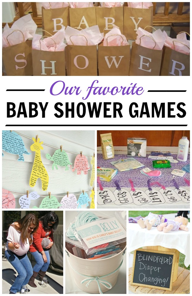 Great list of fun baby shower games