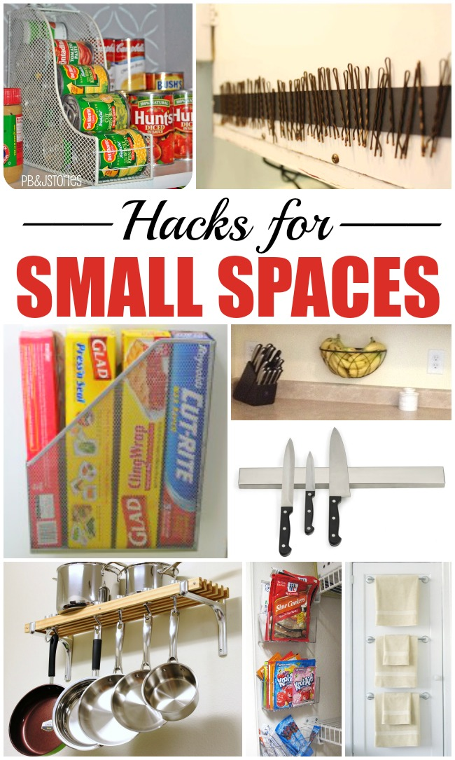 10 hacks for small spaces the realistic mama - Home organization for small spaces image ...