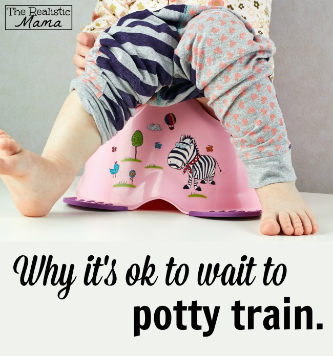 Why it's ok to wait to potty train